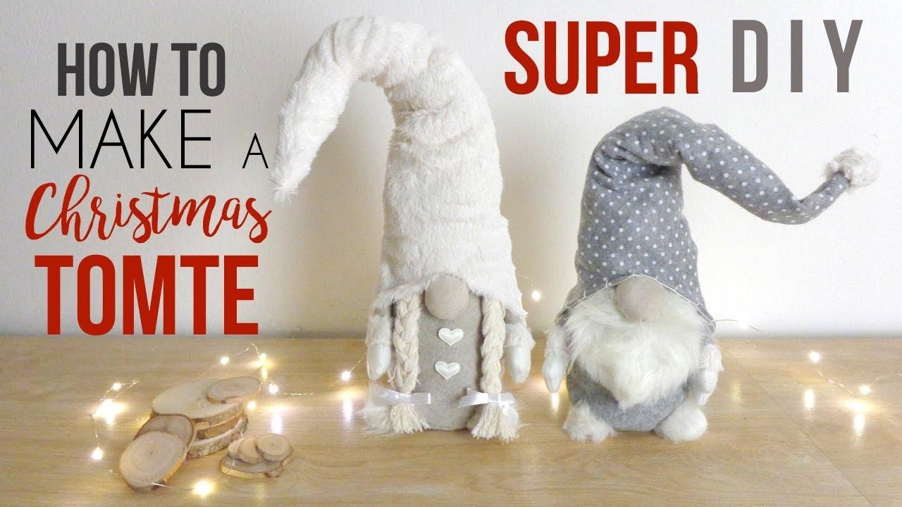 Christmas Gnomes Diy.Diy Christmas Gnome Scandinavian Tutorial Tomte Nisse Room Decor Craft Idea Homemade Vlogmas 2018