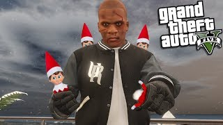 ELF ON THE SHELF VS FRANKLIN (GTA 5 Mods)