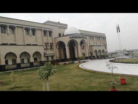 A beautiful view of Administration office Abdul Wali Khan University Mardan