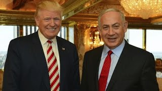 From youtube.com: Donald Trump and Benjamin Netanyahu {MID-256115}