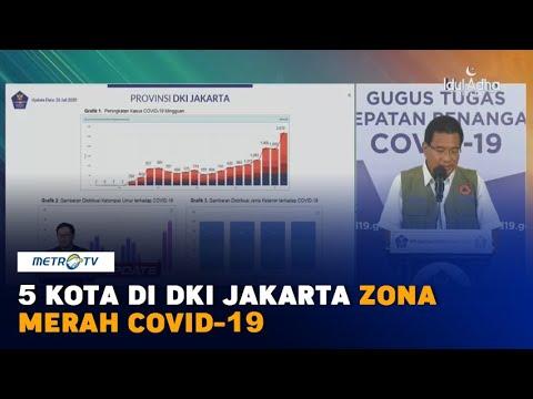 5 Kota Di DKI Jakarta Zona Merah Covid-19