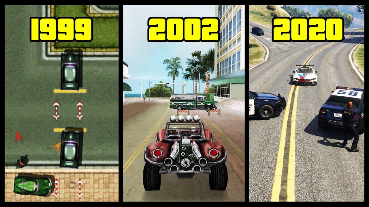 """Download Evolution of """"Police ROADBLOCKS"""" in GTA Games! (1997 - 2020) (3 to 6 Stars ⭐⭐⭐⭐⭐⭐) 🚧"""