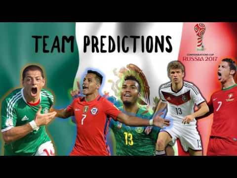 2017 Confederations Cup Mexico Squad Predictions