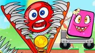 МУЛЬТИК про КРАСНЫЙ ШАРИК и Розовый Шар (квадрат) Девочка - Red Ball только для детей! Серия 5