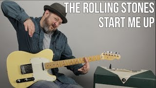 """How to Play """"Start Me Up"""" by The Rolling Stones on Guitar"""