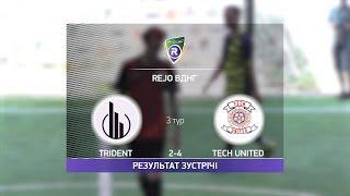 Обзор матча Trident 2 4 Tech United Турнир по мини футболу в Киеве