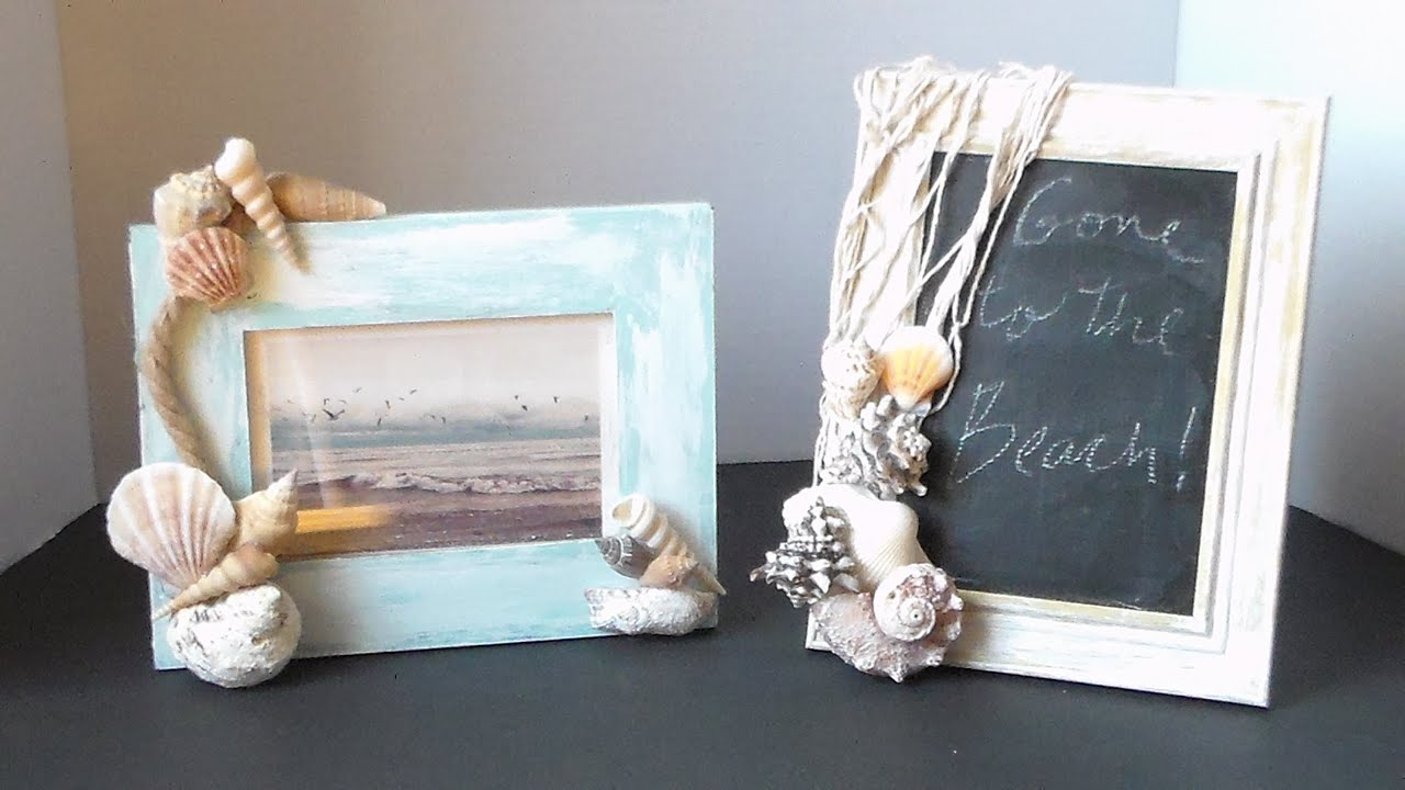 DIY ~Coastal Inspired~ Picture Frames! - YouTube