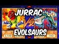 Yugioh JURRACS vs EVOLSAURS (Yu-gi-oh Competitive Deck Duel!)