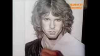 Drawing Jim Morrison (The Doors) By Brandon HV