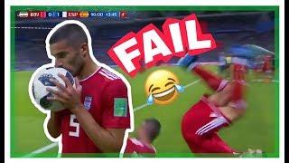 SPAIN vs IRAN 1-0 - Flip Throw In FAIL Russia 2018 FIFA World Cup
