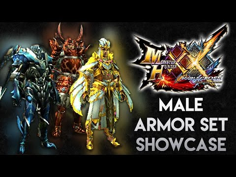 Monster Hunter Generations Ultimate: Male Armor Showcase (LR/HR/GRank) || モンハンXX・防具セット(男性)