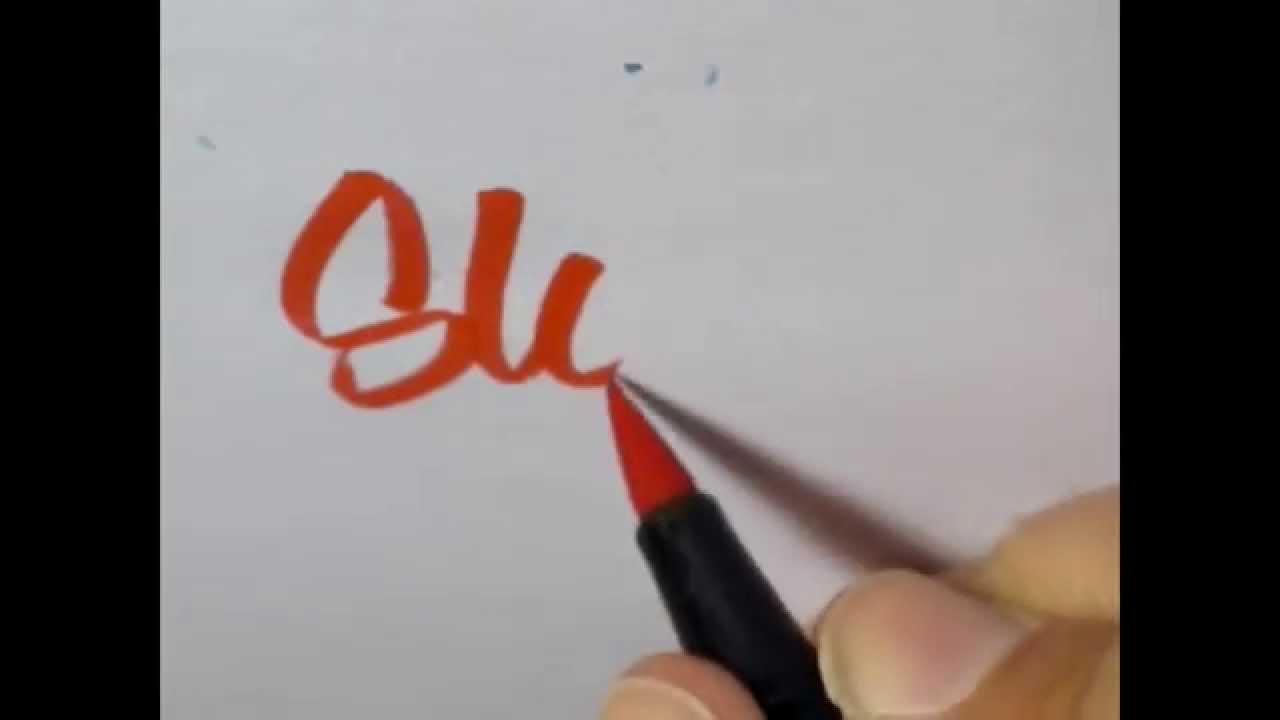 Brush pen lettering youtube