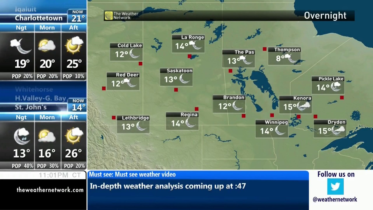The Weather Network National Local Forecast July 19 2017 YouTube