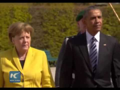 Obama  and  Merkel  defend  U.S.-EU  free  trade  agreement