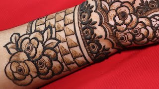 Easy mehndi designs for front hands - Easy beautiful mehndi - Simple Henna designs-Mehndi designs
