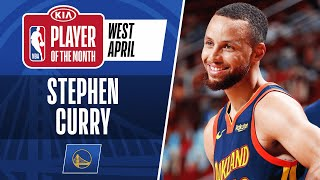 Stephen Curry Is Named #KiaPOTM​​ For April | Western Conference