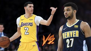 Lonzo Ball VS Jamal Murray INTENSE PG BATTLE!! Lakers vs Nuggets!