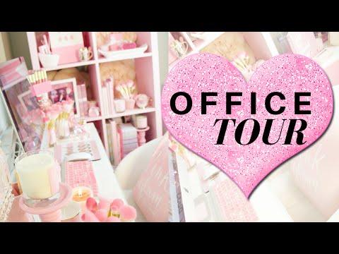 Office Tour 2016- Desk Organization, Stationary and decor- SLMissGlam♥♥