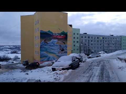 Это ещё не зима! Чистка снега в Снежногорске,глазами жителей города.