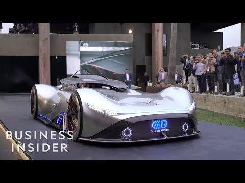 Mercedes-Benz EQ Silver Arrow Show Car's Roof Comes Down Around You