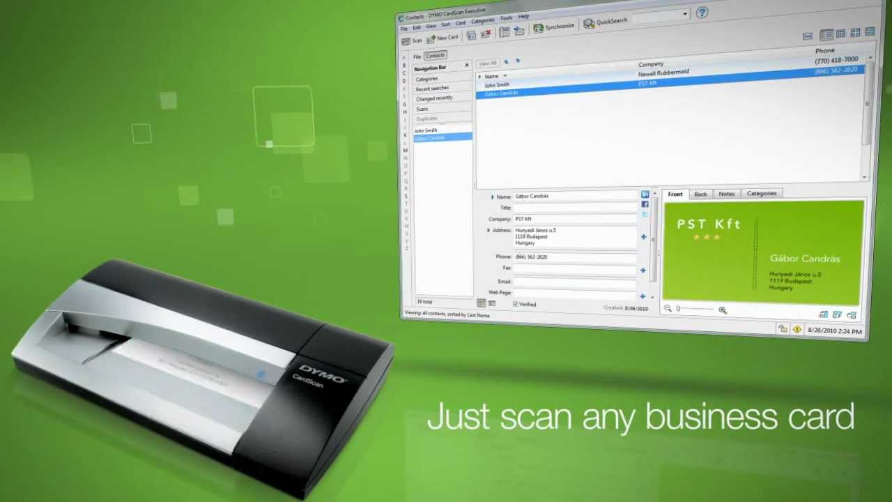 DYMO® CardScan® Business Card Scanners - YouTube