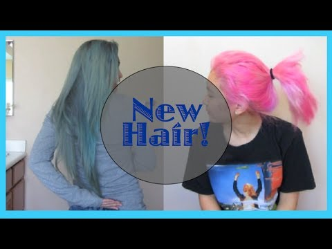 GOING FROM BLUE HAIR TO PINK HAIR | Brittnissx3