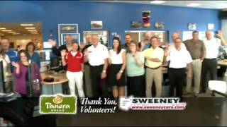 Sweeney Chevrolet Buick GMC is this month's volunteers of the month!