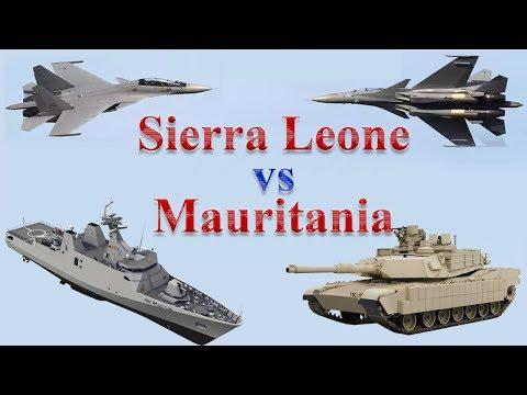 Mauritania vs Sierra Leone Military Comparison 2017