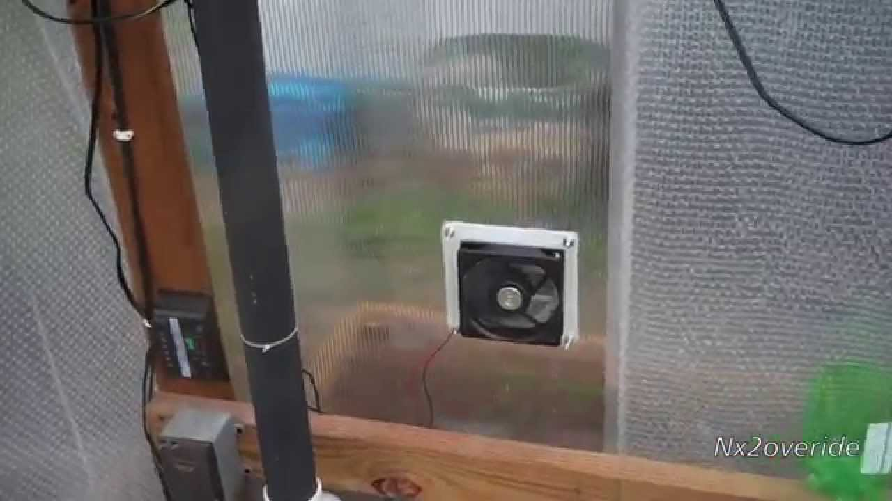 Diy Greenhouse Exhaust Ventilation Fan Youtube