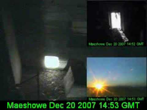 Sunset at Maeshowe, December 20th, 2007 (winter solstice)