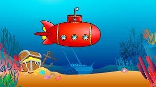 Мультик про підводний човен і букви. Вчимося читати складах: склад ГЬ