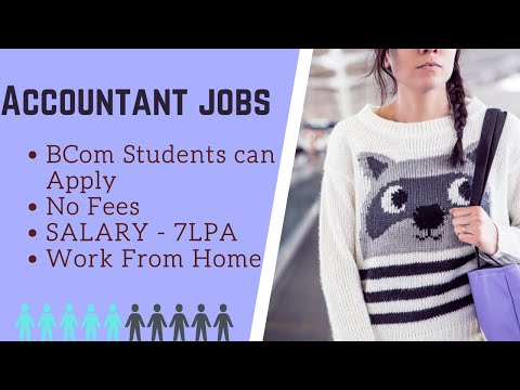 Accountant job  Work From Home   Salary : 4LPA   Freshers can Apply   Direct links.