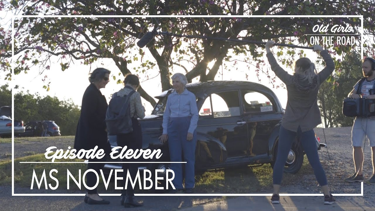 Old Girls on The Road Calendar Series - Ms November, Fran and her late '53 Morris