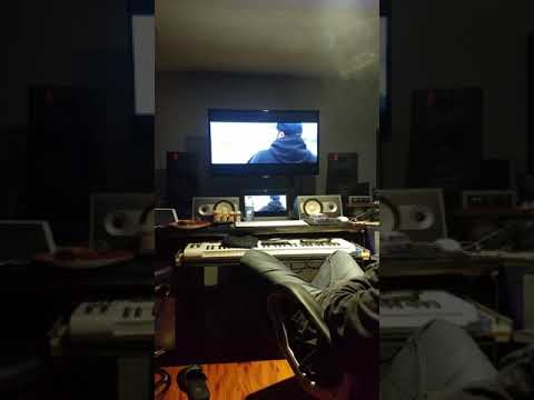 Im the studio working on my Video