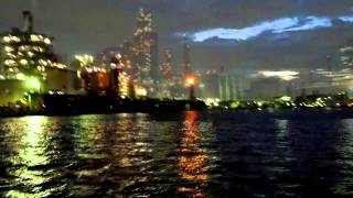 川崎工場ナイトクルーズ 運河から見た夜景