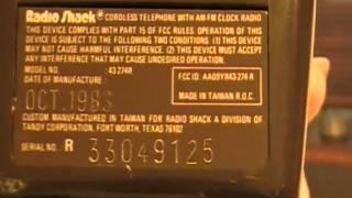 VINTAGE 1983 Radio Shack Chronofone ET-380 Cordless Phone/Clock Radio