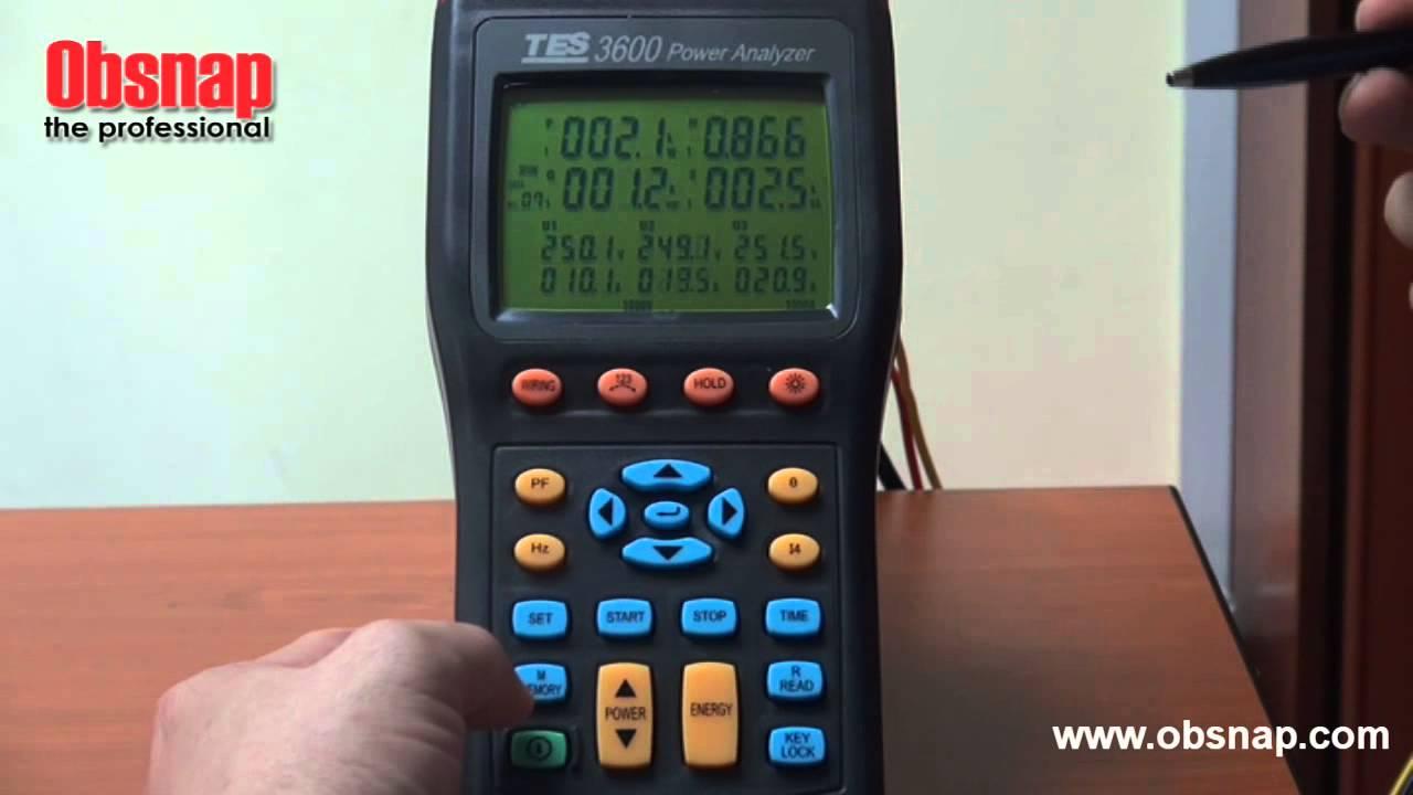 Manual medidor potencia tes 3600.