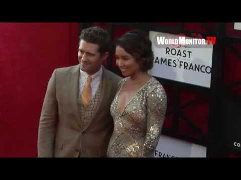 Glee Matthew Morrison, Renee Puente arrive at James Franco's Comedy Central Roast