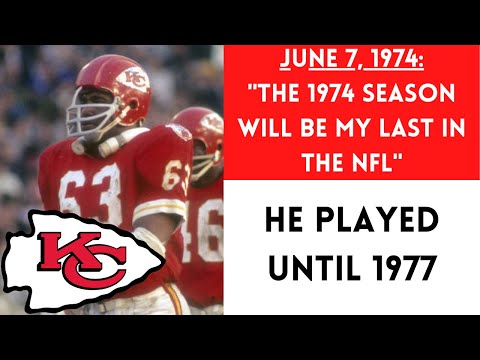 [OC] [Highlight] Prior to the 1974 season, Chiefs LB and Hall of Famer Willie Lanier announced that this would be his last season, and that he would be going on a farewell tour. He unreturned four months after the 1974 season ended and played another 3 years. This is the bizarre story behind that