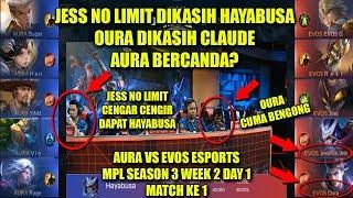 EVOS VS AURA    MATCH KE 1 MPL SEASON 3 WEEK 2 DAY 1    MOBILE LEGE...