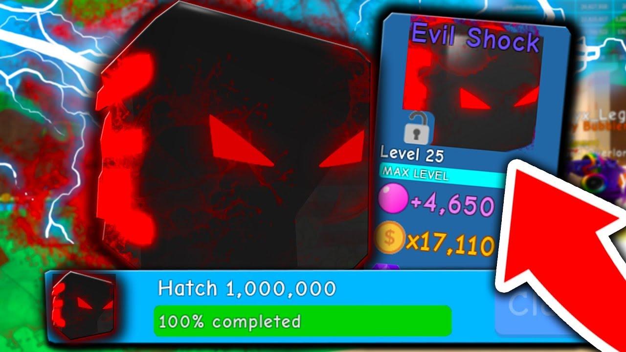 THE NEW *FINAL* EGG PRIZE PET! (EVIL SHOCK!!) - Roblox Bubble Gum Simulator (Valentines Update)