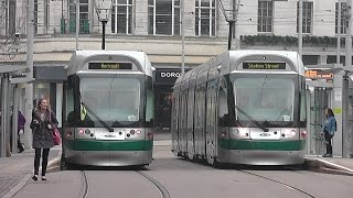 Trams on the Nottingham Express Transit!