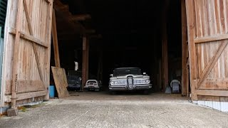 Massive Barn Find, Classics Sitting For 50 Years, Join us as We Take a Walk Through Classic Cars..