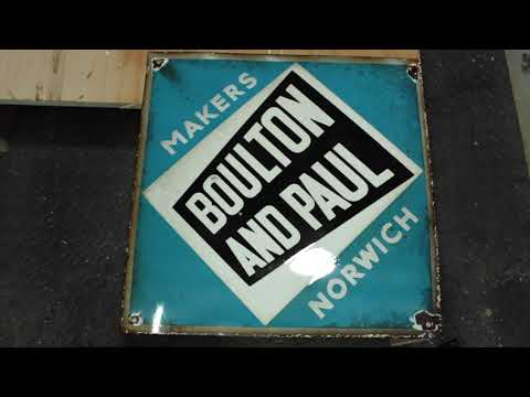 Reclaimed and Upcycled Enamel Boulton and Paul Sign