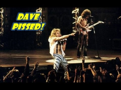 David Lee Roth pissed after being hit in the eye,while performing 1984