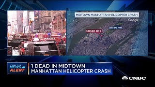 At least one dead in midtown Manhattan helicopter crash