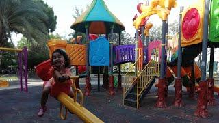 Ayşe Ebrar Parkta Yaramazlık yaptı. Kaydıraklardan Kaydı Çok Eğlendi. For Kids Video