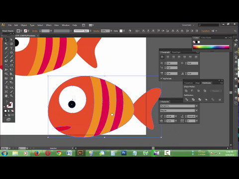 How To Create Vector Fish On Illustrator Tutorial