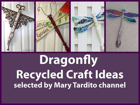Dragonfly Crafts Ideas - Recycled Crafts Ideas - Old Things Turned into New Things Ideas