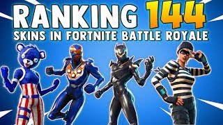 RANKING EVERY SKIN IN FORTNITE BATTLE ROYALE (144 Skins) All Skins In Fortnite BR Ranked